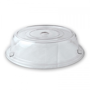 PLATE COVER CLEAR 23CM
