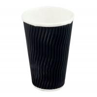 COFFEE CUP PAPER BLACK 16oz(500pcs)