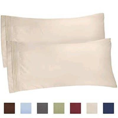 beige pillow cases