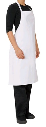 BIB APRON WHITE NO POCKET 70X86