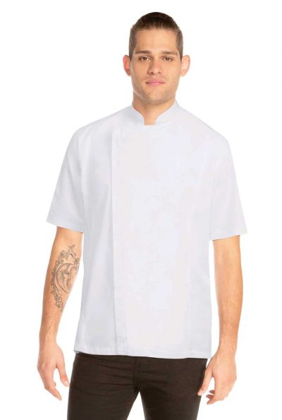 CHEFWORKS SPRINGFIELD WHITE JACKET S w/zip