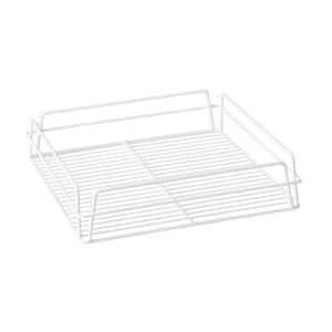 GLASS BASKET PVC WHITE 435x355x125