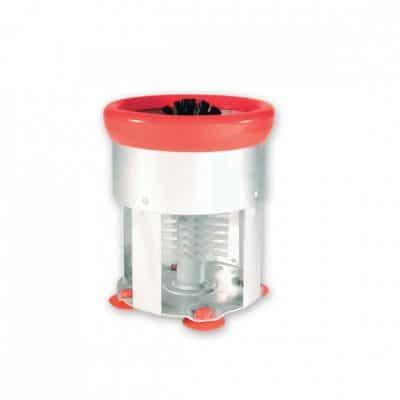 GLASS BRUSH SINGLE ALUM half case (w suction)