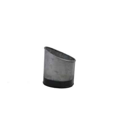 CONEY ISL GALVANISED POT SLANT DIPPED BLACK 105X95