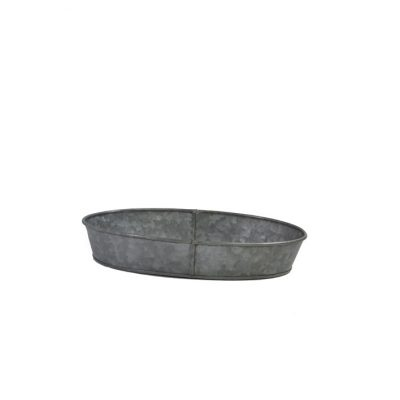 CONEY ISL GALVANISED OVAL TRAY 240X160X45MM