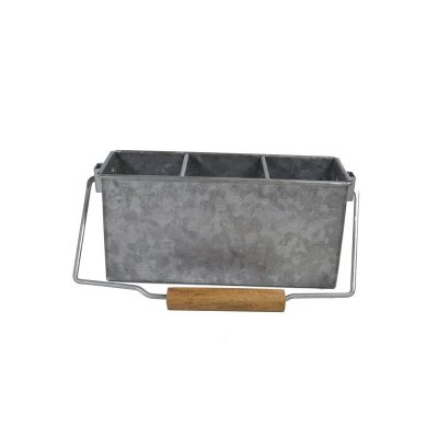 CONEY ISL GALVANISED 3 COMP CADDY WITH HANDLE 25X9