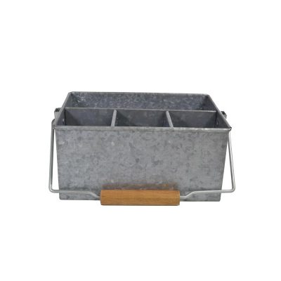 CONEY ISL GALVANISED 4 COMP CADDY WITH HDL 25X18