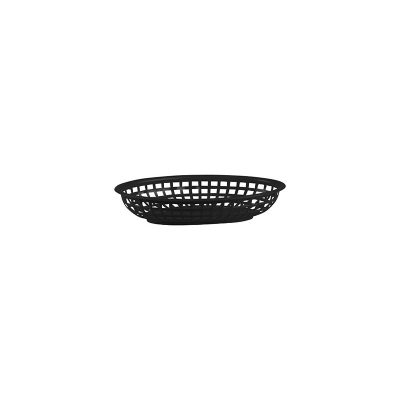 PLASTIC SERVING BASKET OVAL BLACK 240X150X50CMM