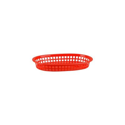 CONEY ISLAND PLASTIC BASKET RED 270X180X40MM CON