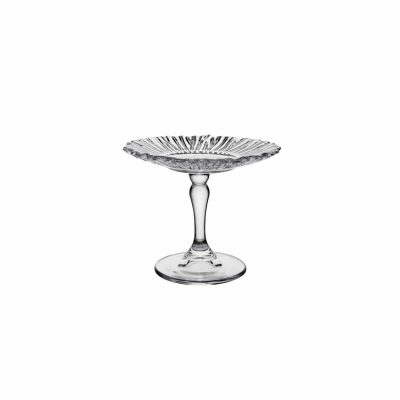 PASABAHCE PATISSERIE MINI FOOTED PLATE 126MM