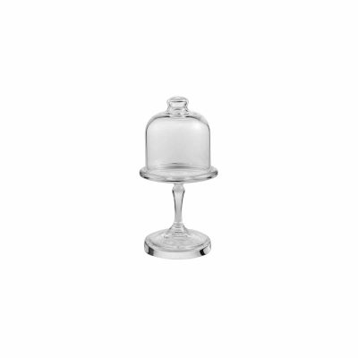 PASABAHCE PATISSERIE MINI FOOTED PLATE & COVER SET