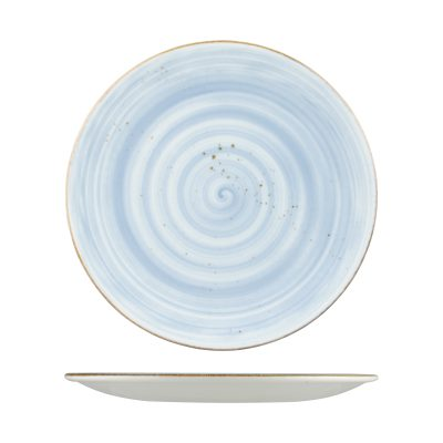 RUSTIC ROUND PLATE 290mm BLUE