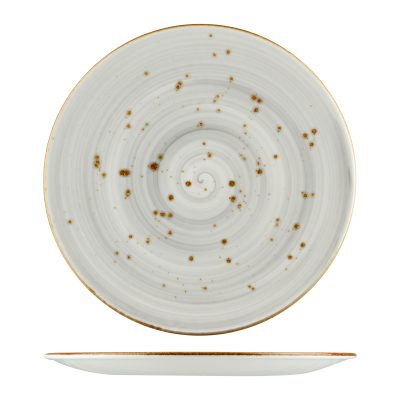 RUSTIC ROUND PLATE 290MM 9935-GY