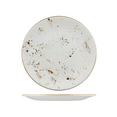 RUSTIC ROUND PLATE 290MM WHITE