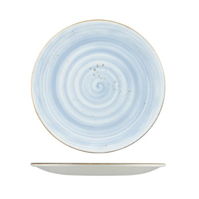 RUSTIC ROUND PLATE 275mm BLUE