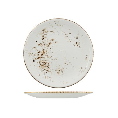 RUSTIC ROUND PLATE 275mm WHITE