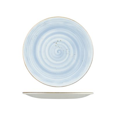 RUSTIC ROUND PLATE 230mm BLUE