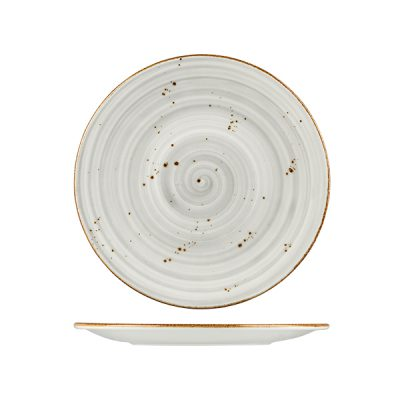 RUSTIC ROUND PLATE 200MM GREY 9950-GY