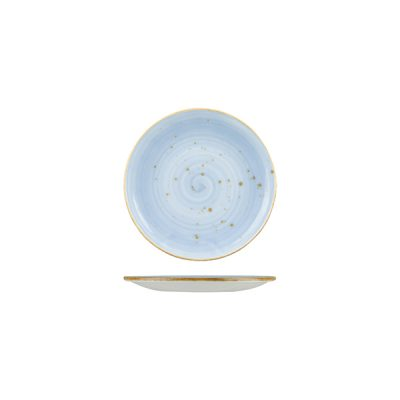 RUSTIC ROUND PLATE 140MM BLUE