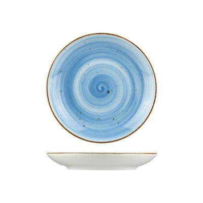 RUSTIC BLUE ROUND DEEP COUPE PLATE 235MM 9933-BL
