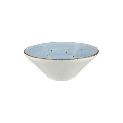 RUSTICS BLUE V-SHAPE BOWL 130MM 9944-BL