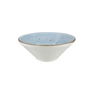 RUSTIC BLUE V-SHAPE BOWL 160MM 9945-BL