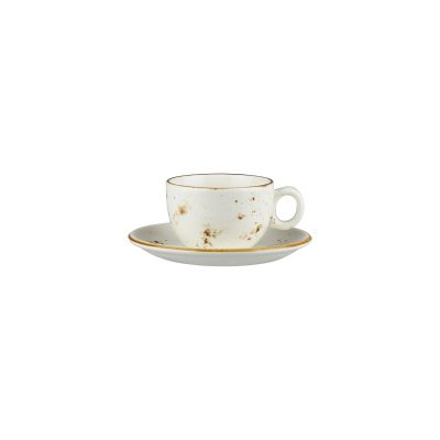 RUSTIC WHITE CAPP SAUCER 150MM (SAUCER ONLY)