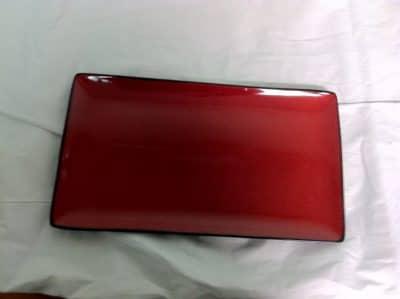 UNIQ RED RECT PLT 275X165MM 6654