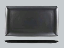 NATURAL SATIN BLACK RECT PLATTER 340X195 9943-BK