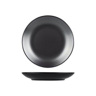 NATURAL SATIN BLACK DEEP COUPE PLATE 235MM 9933-BK