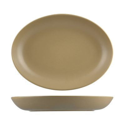 NATURAL SATIN SAND OVAL COUPE BOWL 320X245 9953-SB