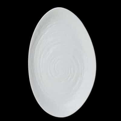 MELAMINE SCAPE WHITE Oval Platter 40 x 24.2cm