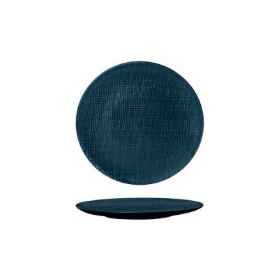 LUZERNE LINEN ROUND PLATE FLAT-180MM NVY BL(6/48)