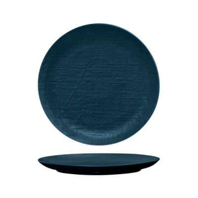 LUZERNE LINEN RND PLATE FLAT 285MM NAVY BLUE(4/12)