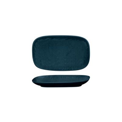 LUZERNE LINEN RECT SHARE PLATE 215MM NVY BLU(6/48)