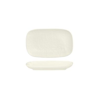 LUZERNE LINEN RECT SHARE PLATE 215MM WHITE(1/12)