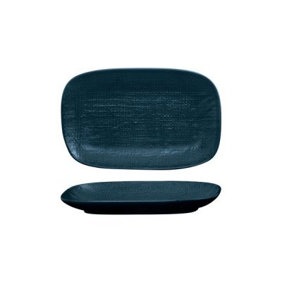 LUZERNE LINEN RECT SHARE PLATE 265MM NVY BLU(4/24)