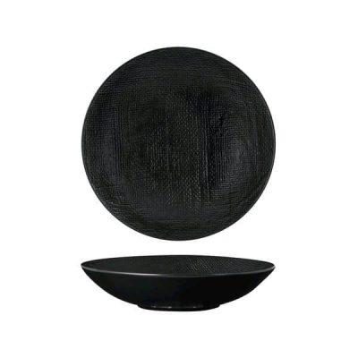 LUZERNE LINEN SHARE BOWL 200MM BLACK MATT(1/12)