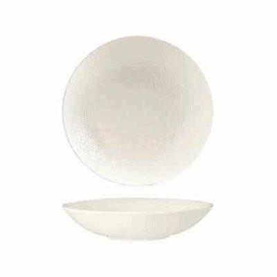 LUZERNE LINEN SHARE BOWL 200MM WHITE(6/36)