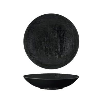 LUZERNE LINEN SHARE BOWL 230MM BLACK MATT(1/12)