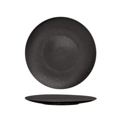 LUZERNE LAVA ROUND PLATE FLAT 160MM BLACK MATT
