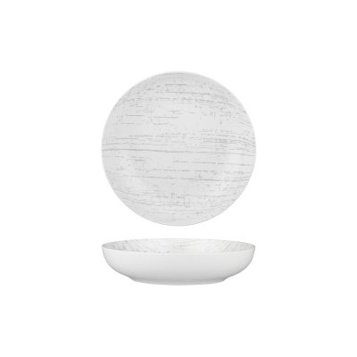 LUZERNE DRIZZLE WH/GY RND SHARE BOWL 210MM(4/12)