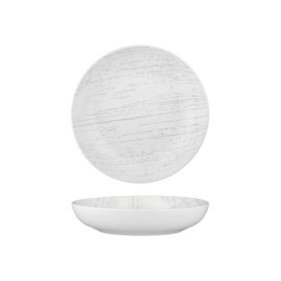 LUZERNE DRIZZLE WH/GY RND SHARE BOWL 230MM(4/12)