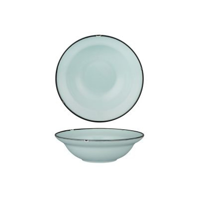 LUZERNE TINTIN BLUE W/BLK RND BWL 190mm WH(12/24)
