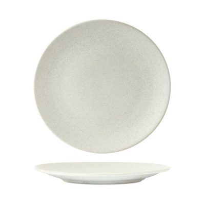 ZUMA ROUND COUPE PLATE FROST WHITE 230MM (24/6)