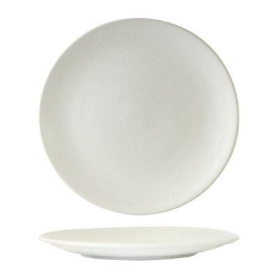 ZUMA ROUND COUPE PLATE 285MM FROST WHITE (12/6)