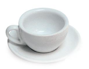 eolINCAFE CAPPUCINO CUP & SAUCER SET WHITE(210ml)