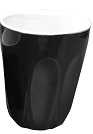 INCASA 220ml LATTE CUP BLACK
