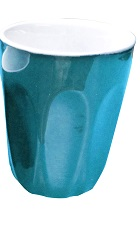 INCASA 220ml LATTE CUP BLUE
