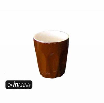 INCASA 220ml LATTE CUP BROWN *eol*